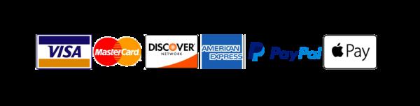 Payment Badge Visa Mastercard Discover PayPal ApplePay