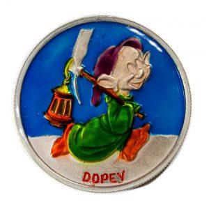 1987 Snow White Dopey Silver Coin