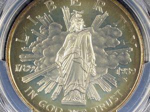 1989-S $1 CONGRESS COMMEMORATIVE SILVER DOLLAR PCGS PR67DCAM