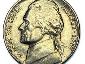 1947-D 5C Uncirculated Jefferson Nickel