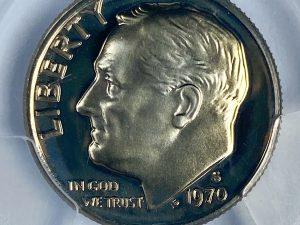 1970-S 10C PCGS PR69DCAM Proof Roosevelt Dime