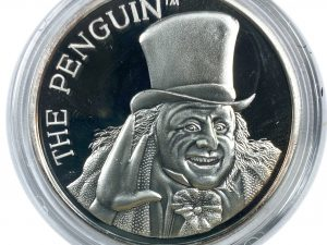 1992 Batman Returns Penguin 1oz .999 Silver Art Coin