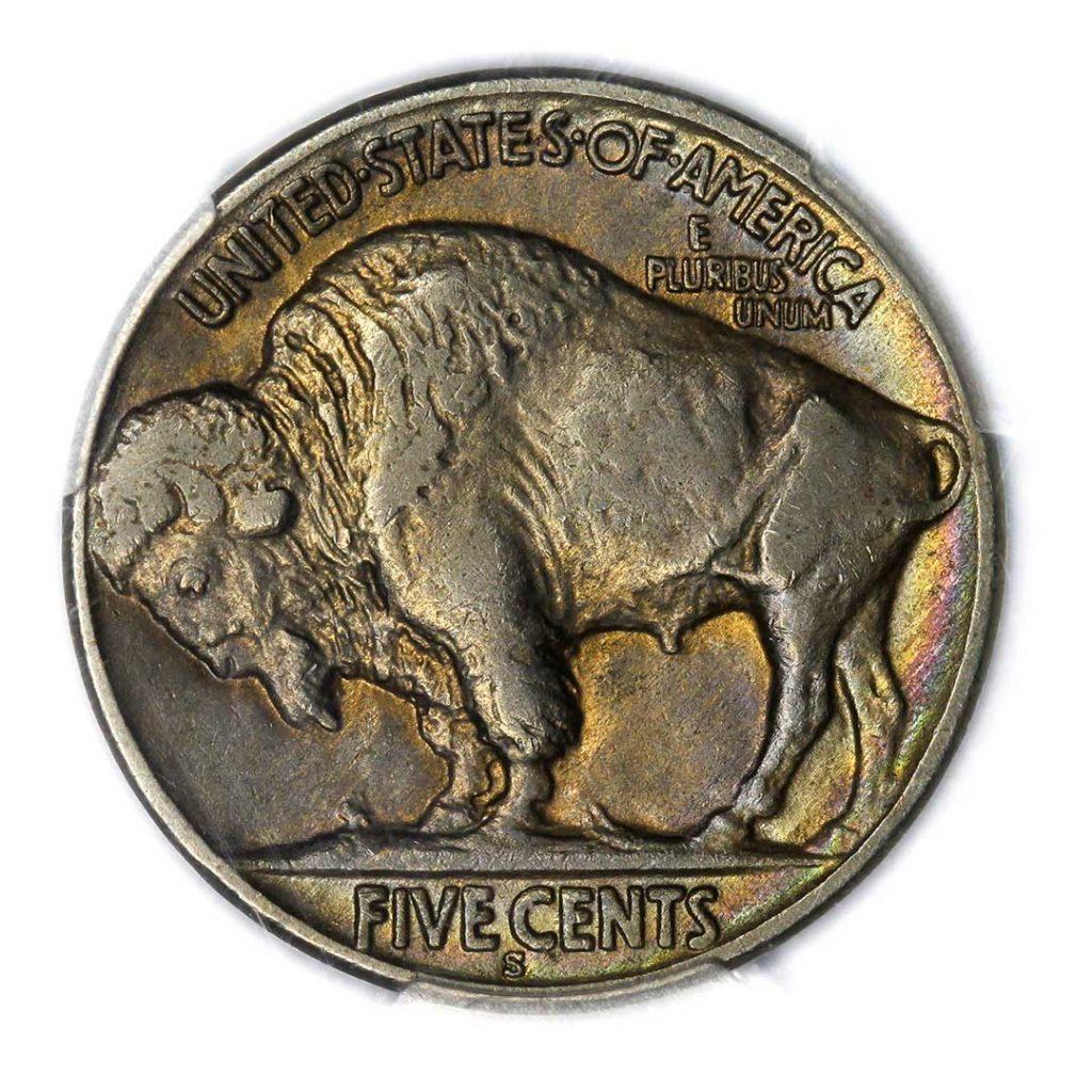 1923-S Buffalo Nickel Reverse