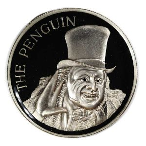 1992 Batman Returns Penguin Silver Coin