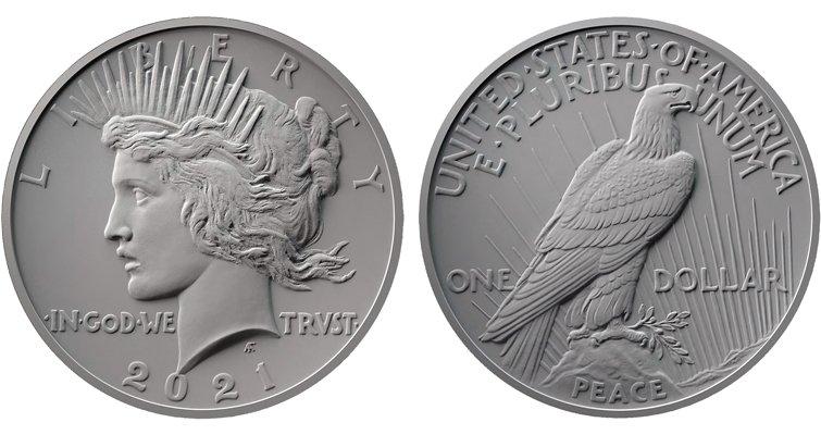 2021 Peace Dollar Design