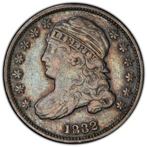 1832 Capped Bust Dime Obverse