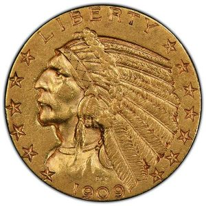 1909 Indian Head Gold