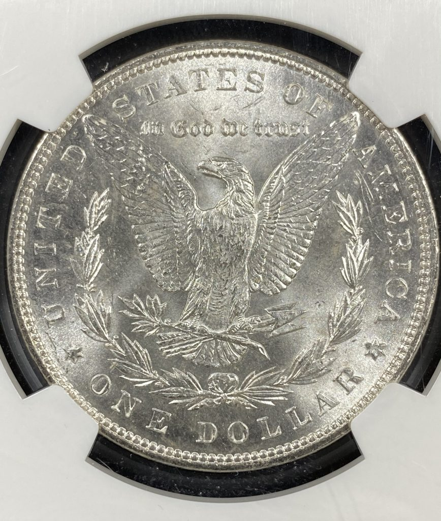 1887 $1 Morgan Silver Dollar NGC MS62 McClaren Collection