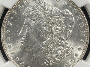 1887 $1 Morgan Silver Dollar NGC MS62 McClaren Collection