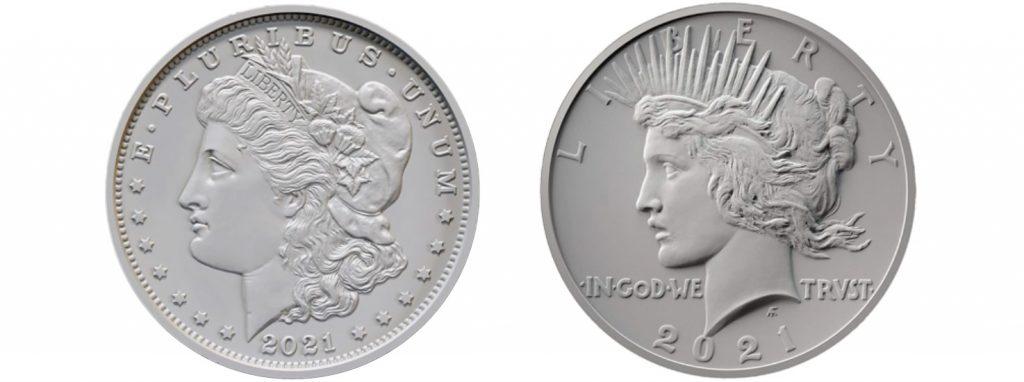 2021 Morgan Peace Silver Dollars